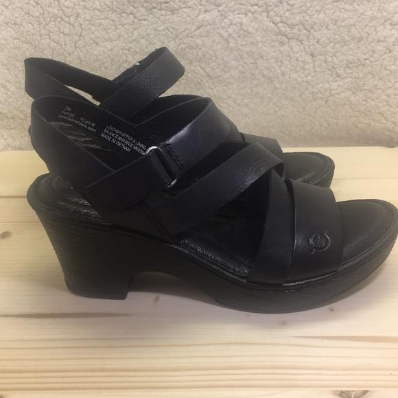 6285961782ab Born Cubera in Black Leather Sandals Heels. Born.  M 5c9133a4194dadedfbe4f063. M 5c840098aaa5b8f97797ec18.  M 5c84009faa877084766fe587